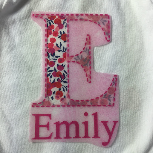 Applying the HTV edging to Fabric Applique.  Tutorial for No Sew Fabric Applique with HTV Edging from Silhouette UK Blog
