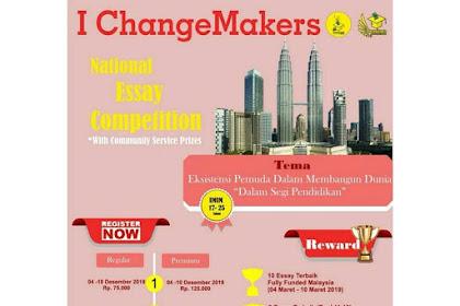 Lomba Essay Nasional I ChangeMakers 2019 Umum