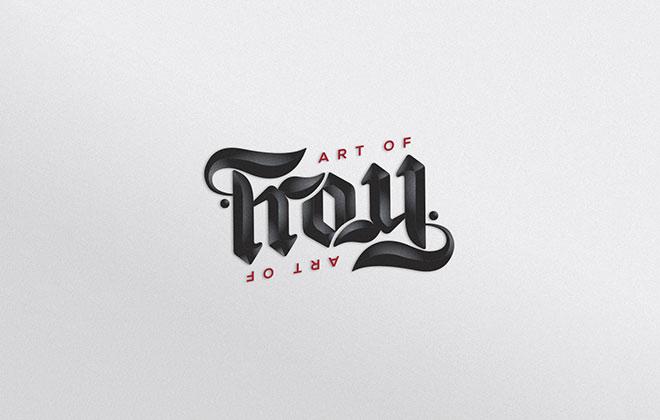Pengertian Ambirgam, Inspirasi Desain Logo Ambigram - Art of Troy