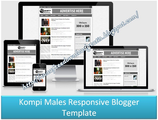 Kompi Males Responsive Blogger Template