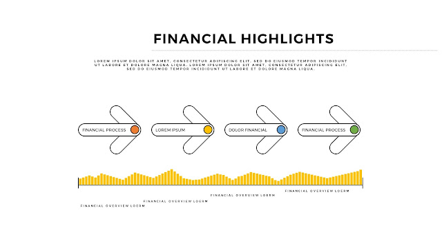 Financial Highlights And Infographic Elements in Free PowerPoint Template Slide 4