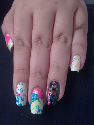 nail art splatter 04