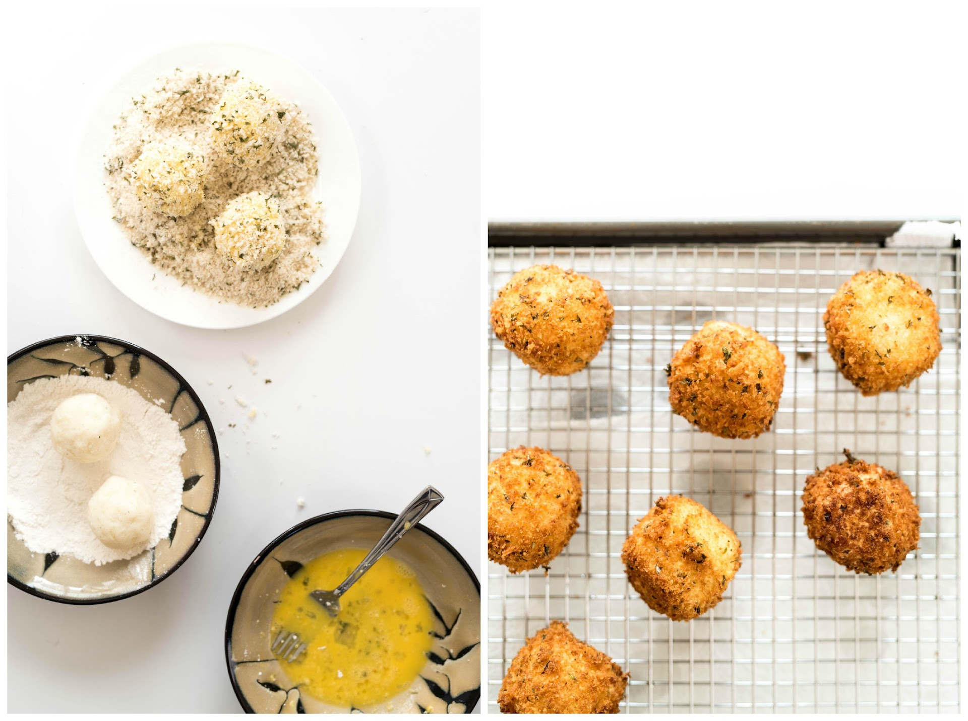 how to make croquettes, japanese european german, herbed breading, leftover mashed potatoes recipes, leftover ham recipes, panko, japanese food blogger