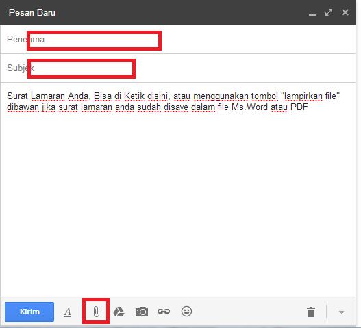 cara mengirim surat lamaran dengan email