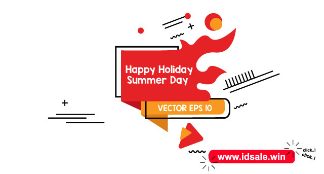 Download Happy Holiday Summer Day Vector EPS 10 | ShutterStock