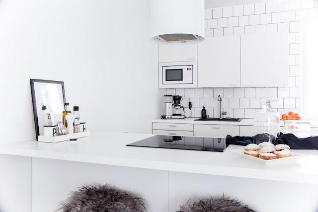 laskiaispullat, keittiö, villa h blogi, valkoinen keittiö, puustelli