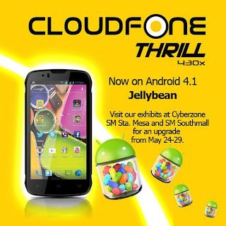 Cloudfone Thrill 430x to Jellybean 4.1 OS