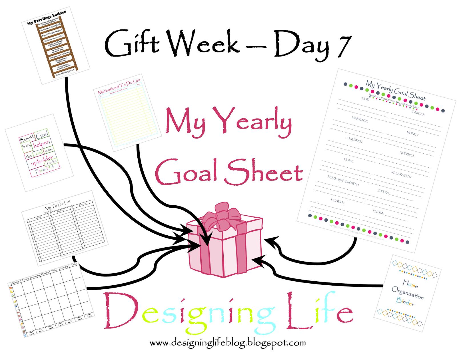 Designing Life T Week Day 7