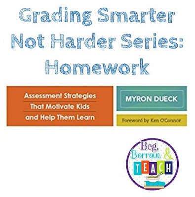 Grading Smarter Not Harder Series: Motivating students to complete homework and lessening the grading load for the teacher
