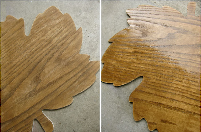 how to stain and protect with poly a wooden placemat