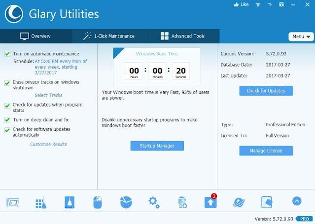 برنامج, Glary ,Utilities, لصيانة, وتسريع, الكمبيوتر, اخر, اصدار