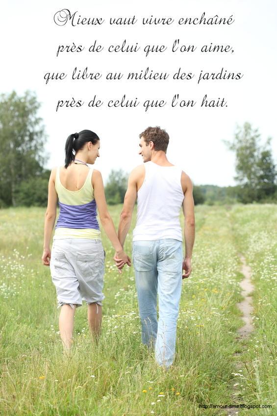 Message d'amour: Proverbes et citations d'amour en images