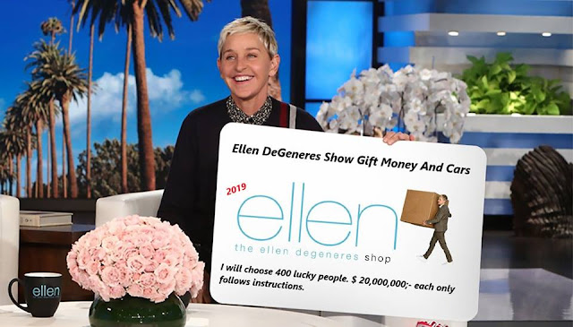 Ellen DeGeneres 500K Sweepstakes Giveaways 2019