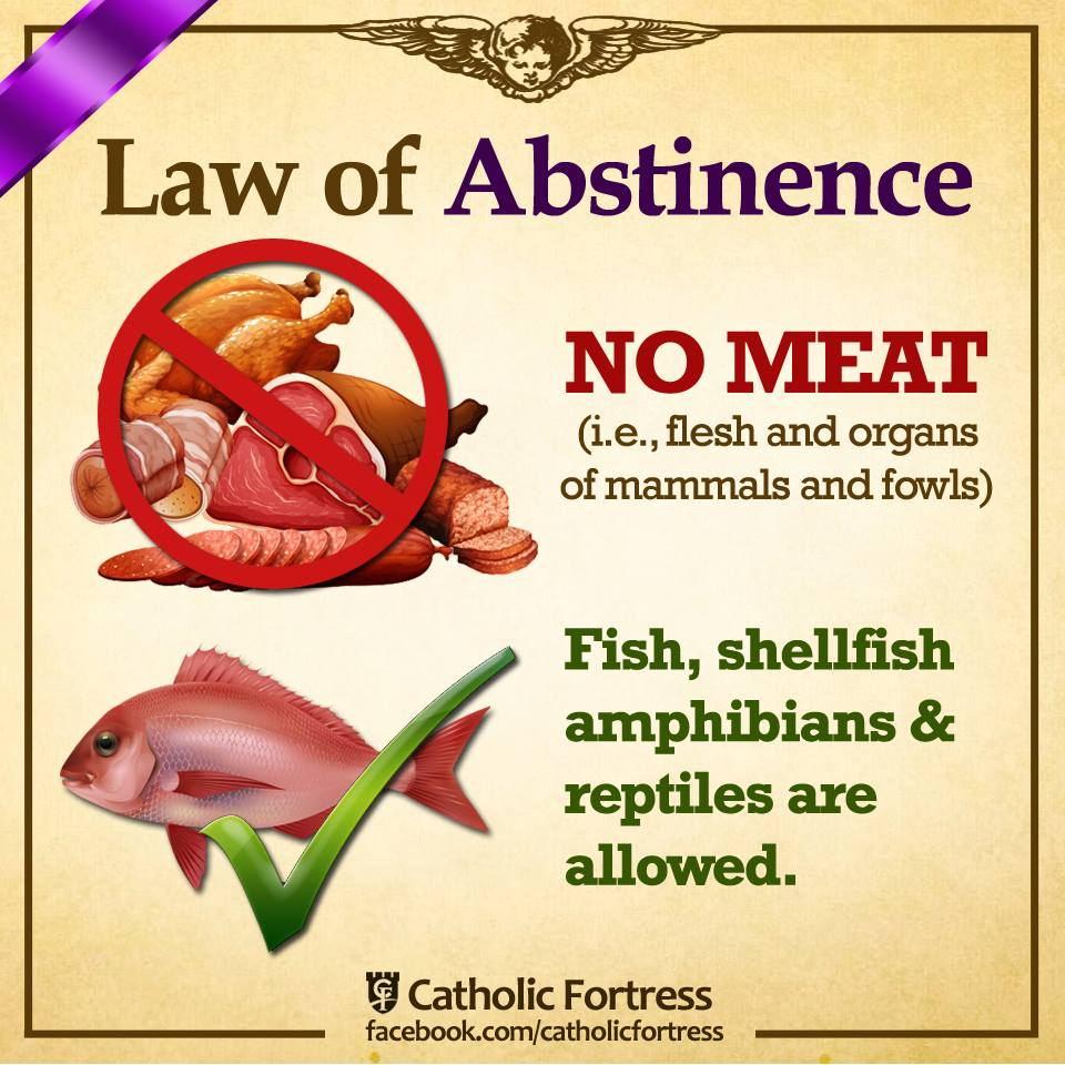 Saint columbkille parish why do catholics practice for Fish on fridays during lent