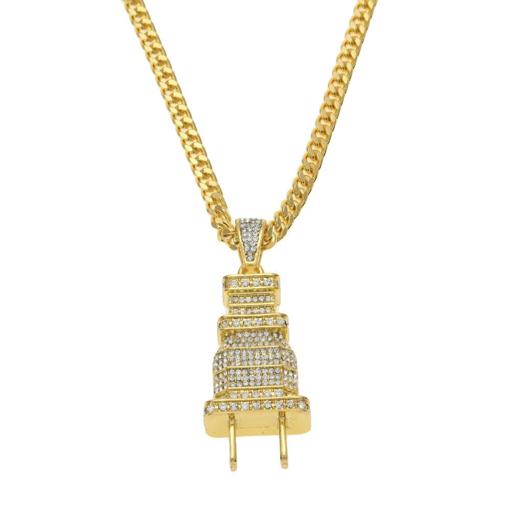 stamp jewelry pin gold chain real with for chains men plated