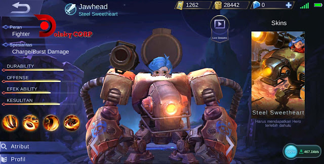 Mobile Legends : Hero Jawhead ( Steel Sweethearth ) Full Tanker Builds Set up Gear