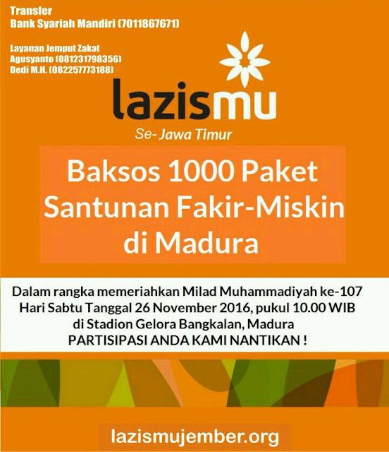 Aksi 1000 Donasi di Tanah Madura