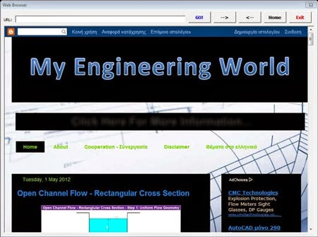 Web Browser In The Spreadsheet – My Engineering World