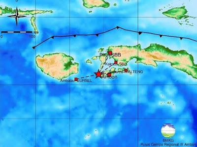 Gempa Beruntun Guncang Pulau Ambon