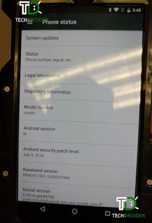 Htc Marlin Nexus device