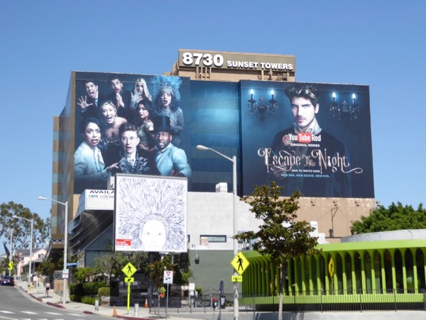 Giant Escape the Night season 2 YouTube billboard