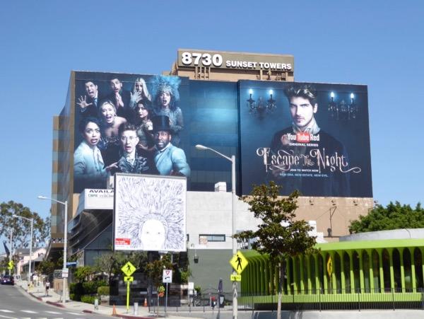 Giant Escape the Night season 2 YouTube billboard