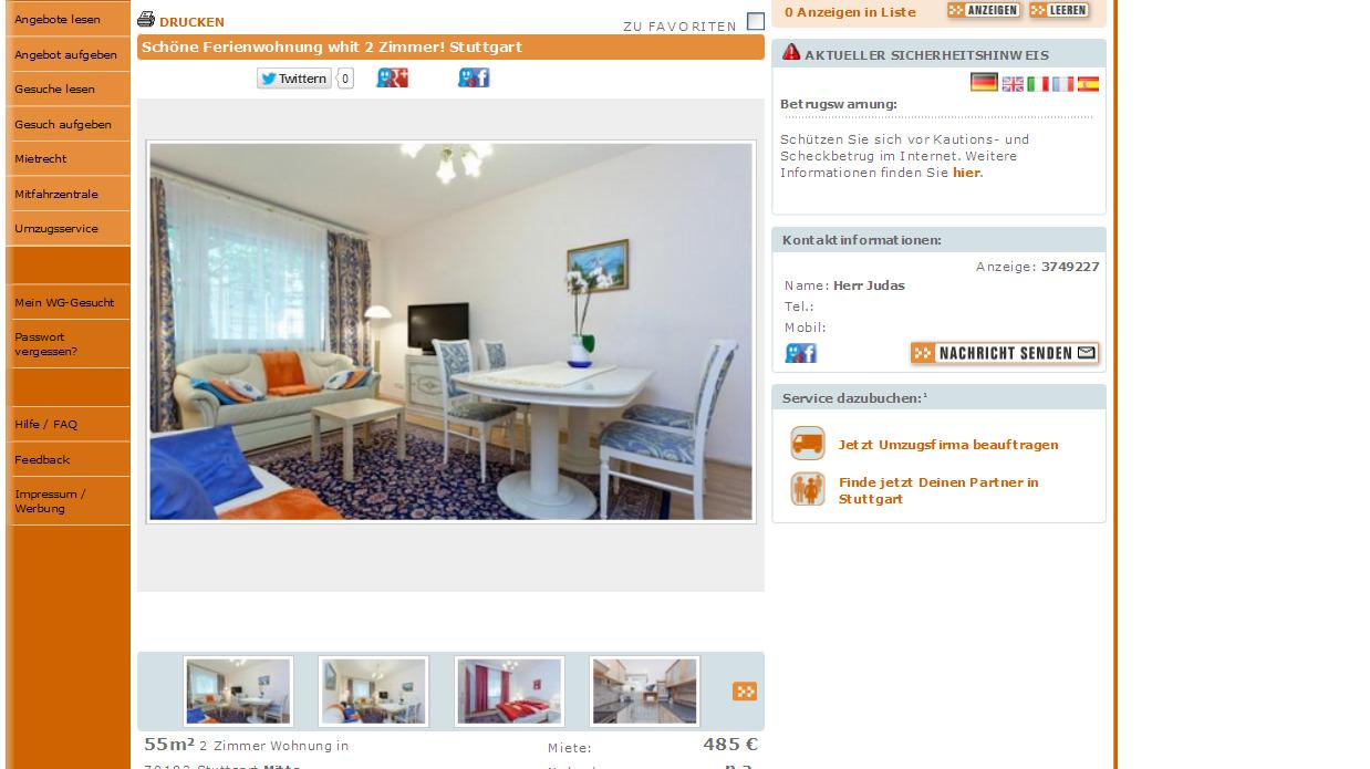 Stuttgart Wohnung Mieten  Zimmer