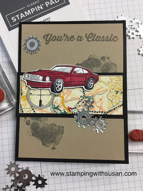 Stampin' Up!, www.stampingwithsusan.com, Classic Garage Suite, Geared Up Garage Bundle
