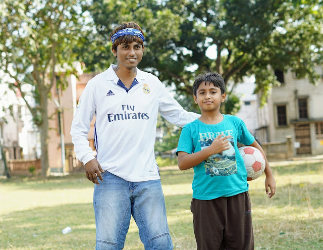 Sourajit Saha and Rick Playing Football 10