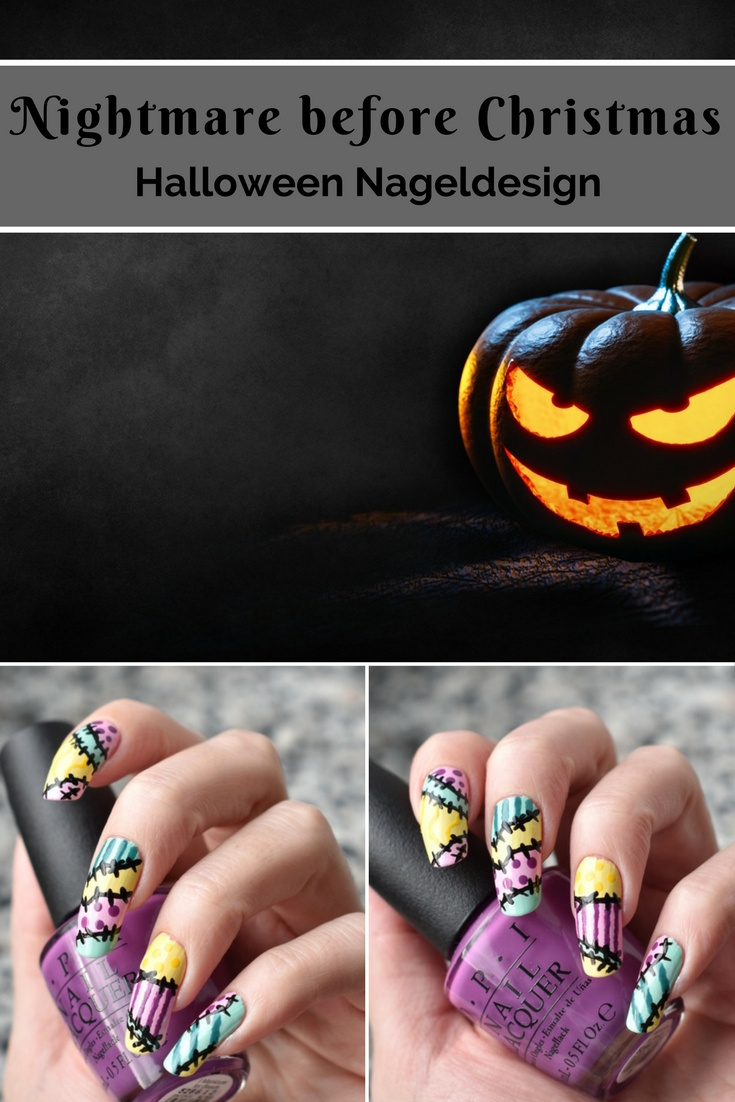 Nightmare before Christmas - Halloween Nageldesign Nail Art
