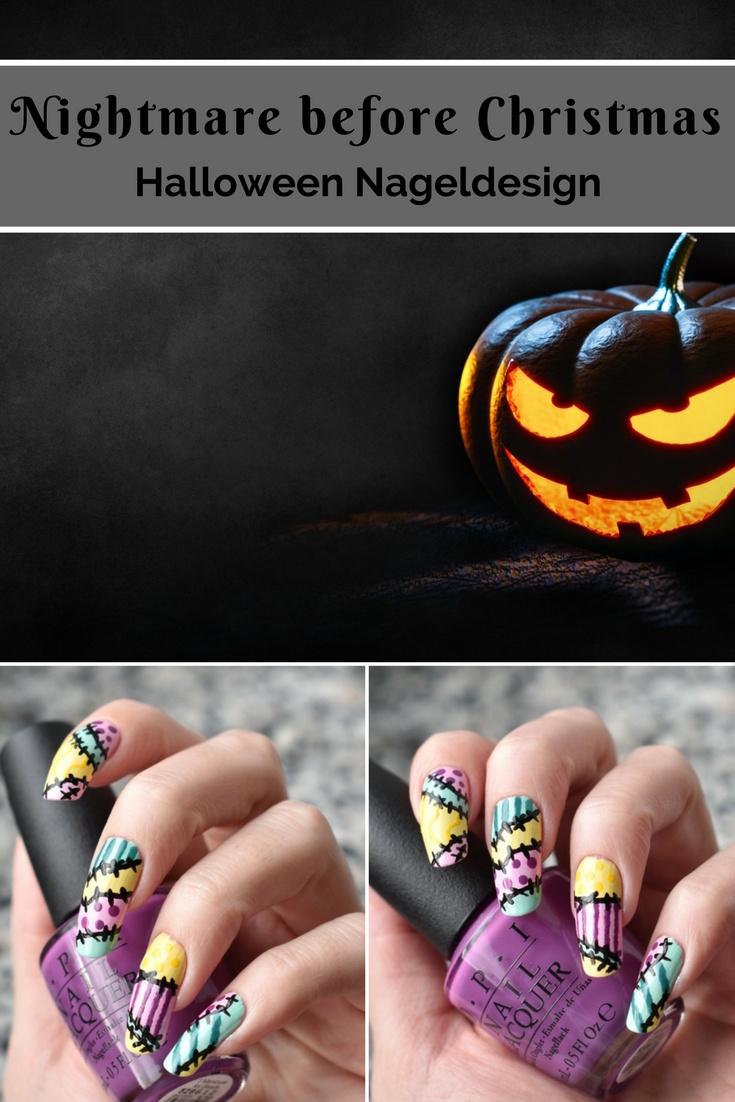 Nightmare before Christmas - Halloween Nageldesign Nail Art