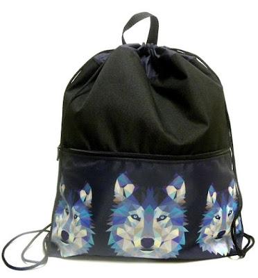 Plecak z wilkiem
