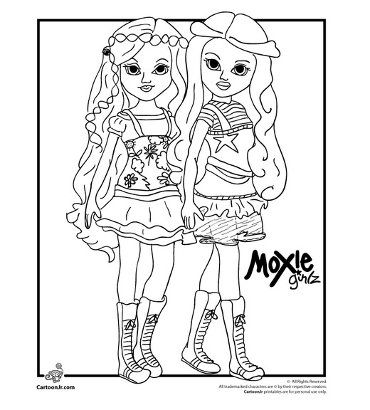 Pink heart string free printable doll coloring pages for Coloring pages for older girls