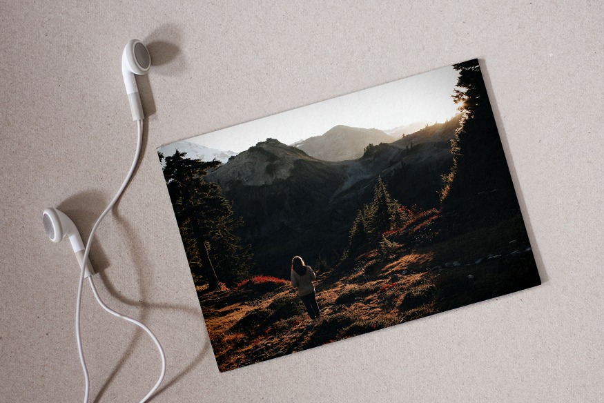 Beim Schreiben muss Musik her! Foto Wald © Jonathan Pendleton / Hintergrundfoto © fieberherz.de