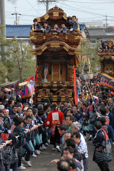 Spring Festival (Float Parade) in Handa City, Aichi
