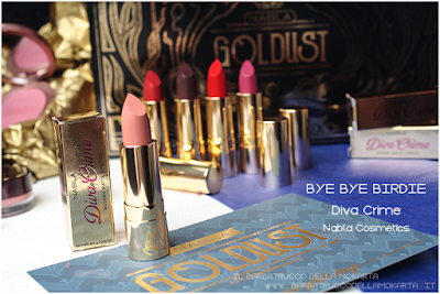 BYE BYE BIRIDIE RECENSIONE diva crime goldust collection Nabla cosmetics