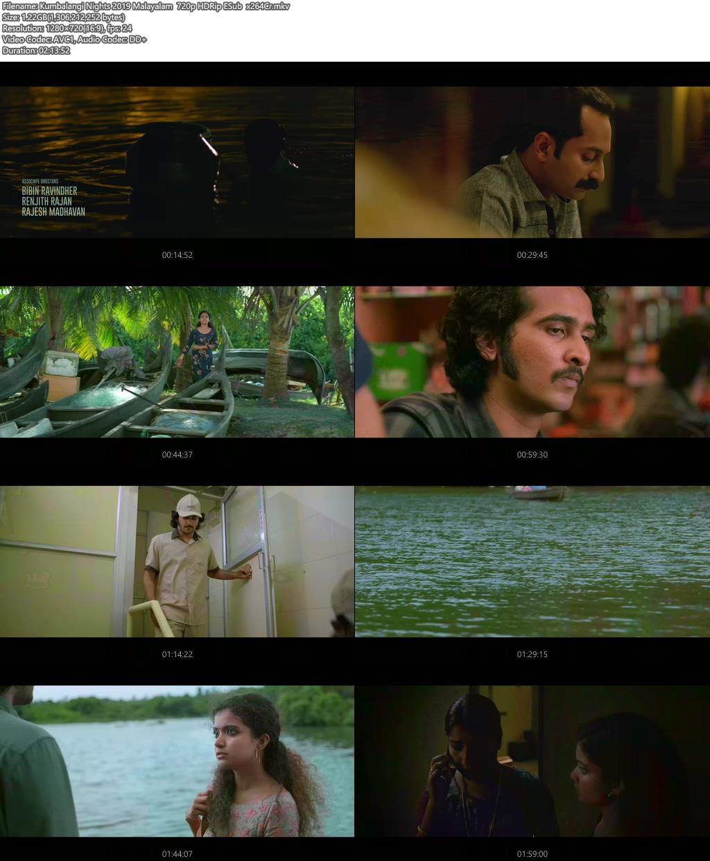 Kumbalangi Nights 2019 Malayalam 720p HDRip ESub  x264 | 480p 300MB | 100MB HEVC Screenshot