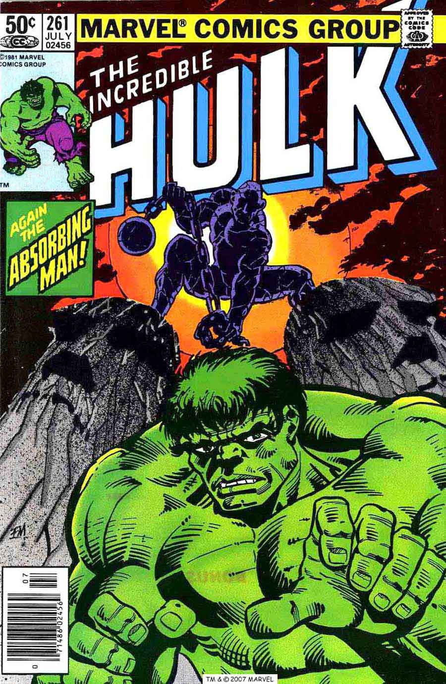 Incredible Hulk v2 #261 marvel comic book cover art by Frank Miller