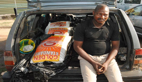 Custom nabs driver for illegal importation of rice masked as dead body
