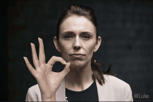 Image result for jacinda ardern 666 sign