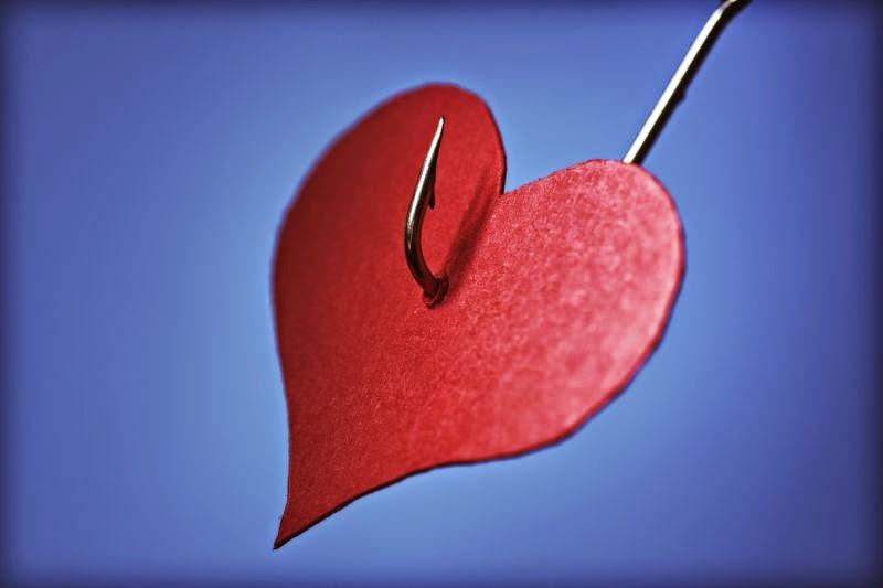 corazón en anzuelo