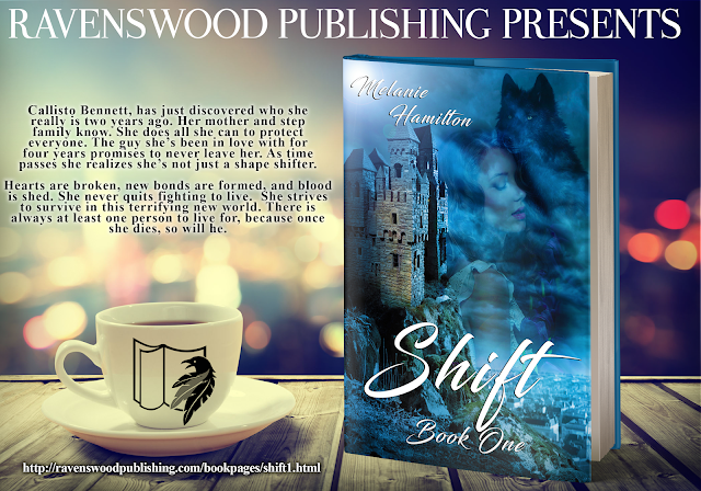 http://ravenswoodpublishing.blogspot.com/p/shift-book-one-by-melanie-hamilton.html