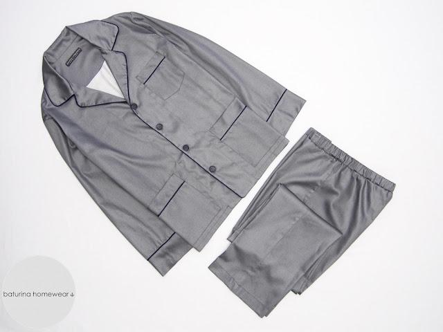 exklusiver herrenpyjama klassisch baumwolle lang pyjamahose langarm stilvoll elegant englischer herrenschlafanzug