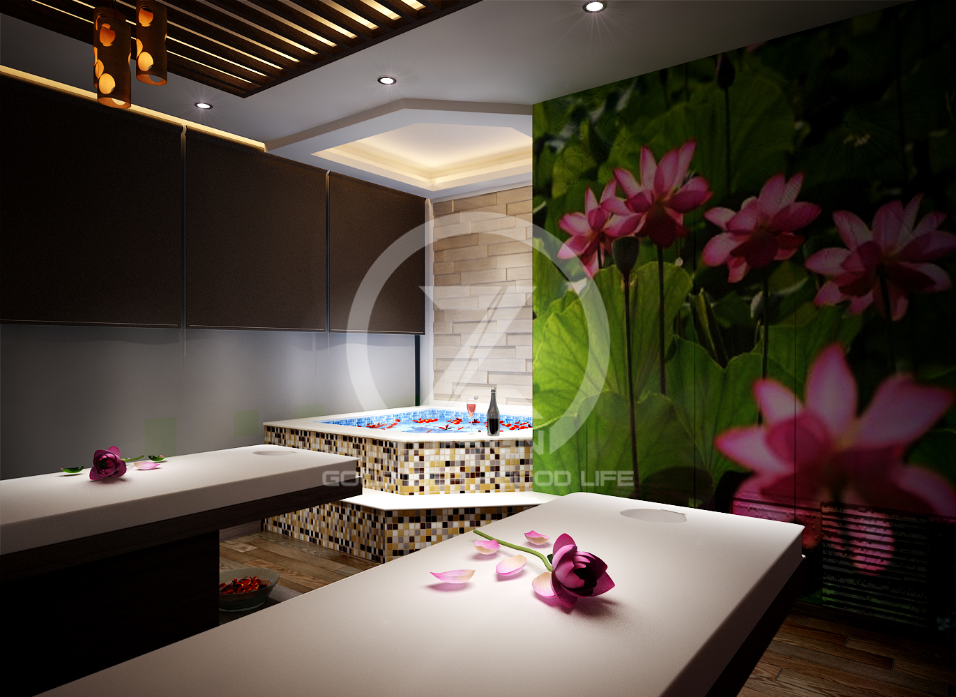 thiet ke the spa