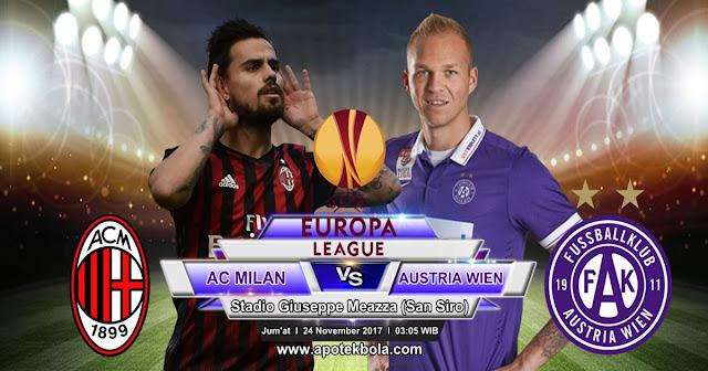 AC Milan vs Austria Wien 24 November 2017