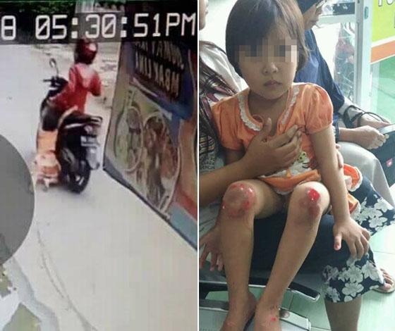 Video Ibu Seret Anaknya Dengan Motor di Klaten