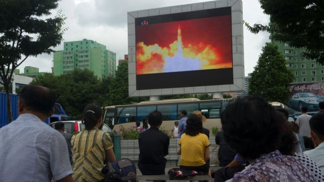 Trump 'disappointed' with China after North Korea missile test