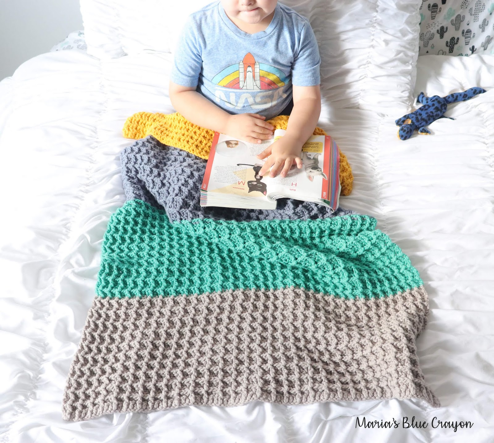 Color Block Crochet Blanket Free Crochet Pattern Maria S Blue Crayon