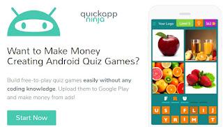 QuickApp Ninja, creador gratuito de juegos para Android