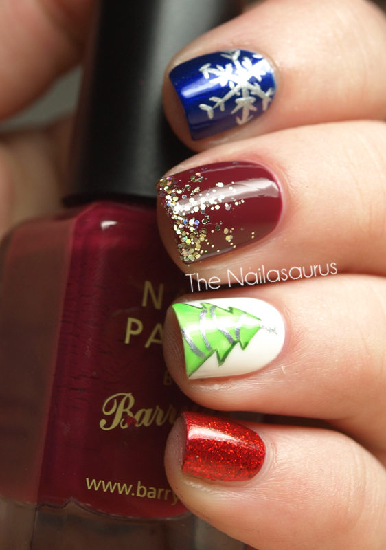 31dc2012 Day 10 Gradient Nails: 12 Days Of Christmas Nails: Day 12... Mash Up